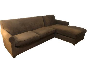 Crate & Barrel 2 Piece Sectional Sofa