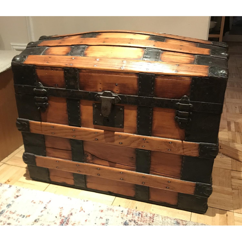 Antique Wooden Trunk-0