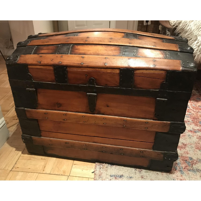 Antique Wooden Trunk-3