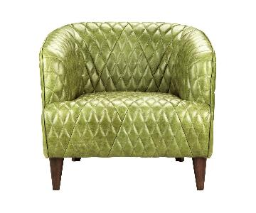 Moe`s Premium Green Leather Chair