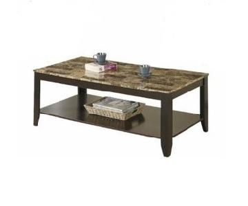 Faux Marble Top Coffee Table + 2 end Tables
