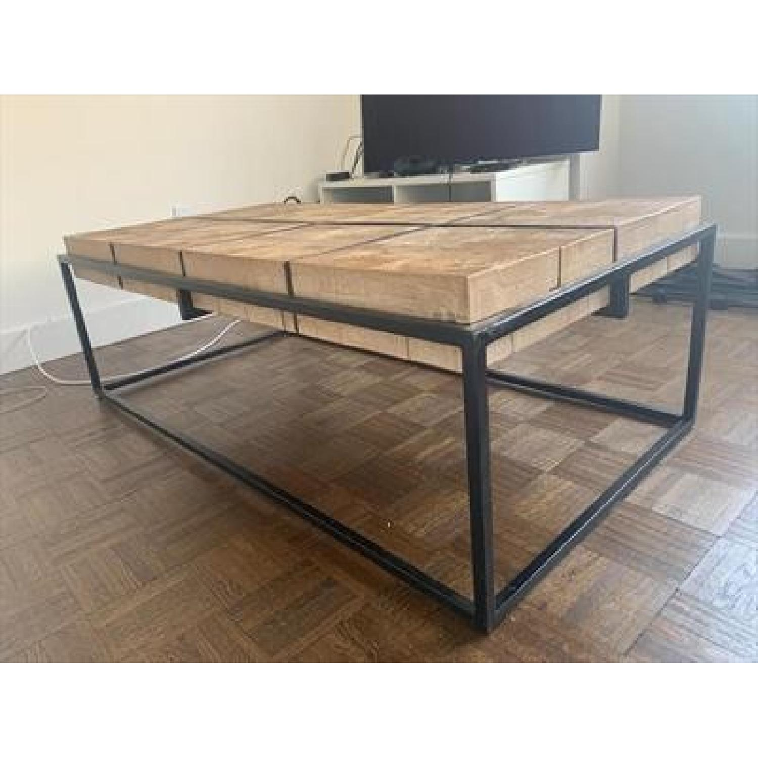 ABC Carpet and Home Iron & Wood Coffee Table-0