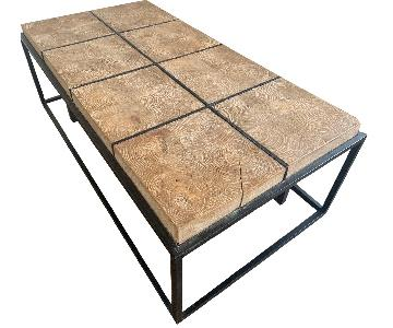 ABC Carpet and Home Iron & Wood Coffee Table