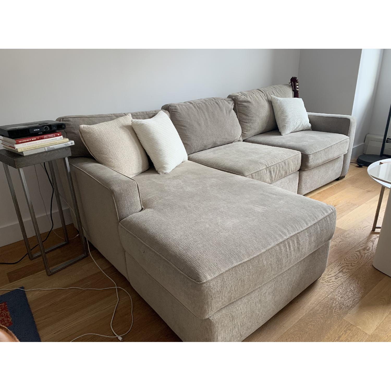 Macy\'s Radley Fabric Chaise Sectional Sofa - AptDeco