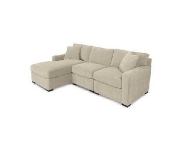 Macy's Radley Fabric Chaise Sectional Sofa
