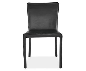 Room & Board Sava Black Leather Chairs