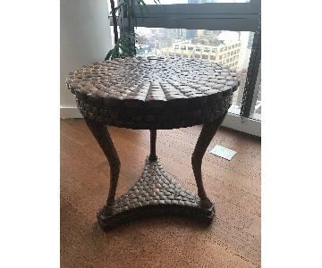 Kreiss Shelled Coconut End Table