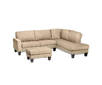 Jennifer Convertibles Haney Sectional Sofa & Ottoman