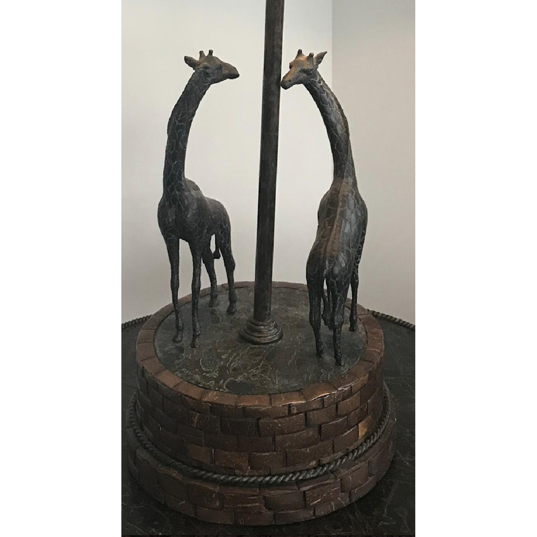 Maitland-Smith Bronze Giraffes Lamp-0