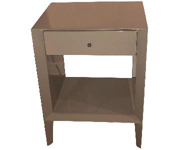 West Elm Gray 1 Drawer Nightstand