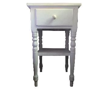 Vintage Nightstand w/ Drawer & Shelf