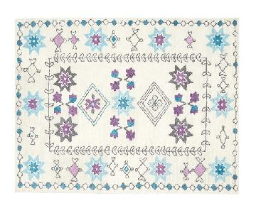 Pottery Barn Kids Hannah Rug in Teal & Lavender