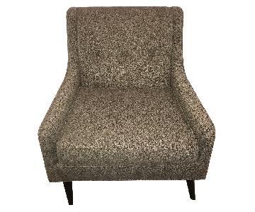 Room & Board Modern Grey Tufted Chair