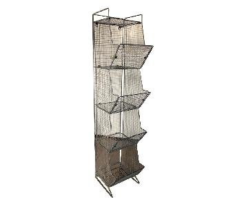 Vintage Wire Mesh Bin/Shelves