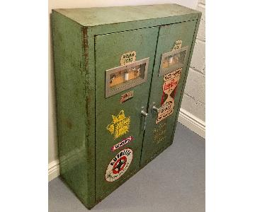 Vintage Motor Supply Cabinet in Enameled Steel