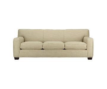 Crate & Barrel Cameron Microsuede Sofa