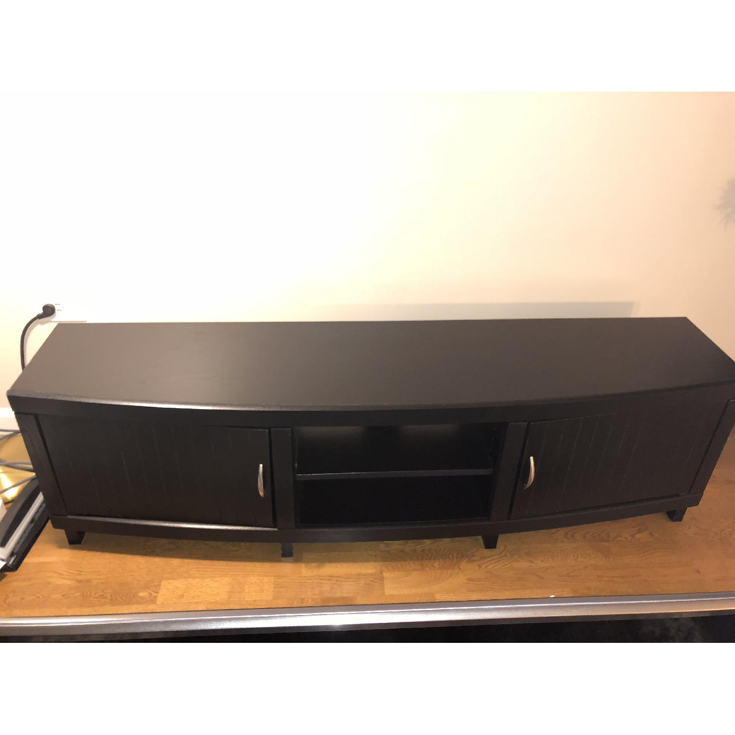 Rooms To Go Black Solid Wood TV Console-0
