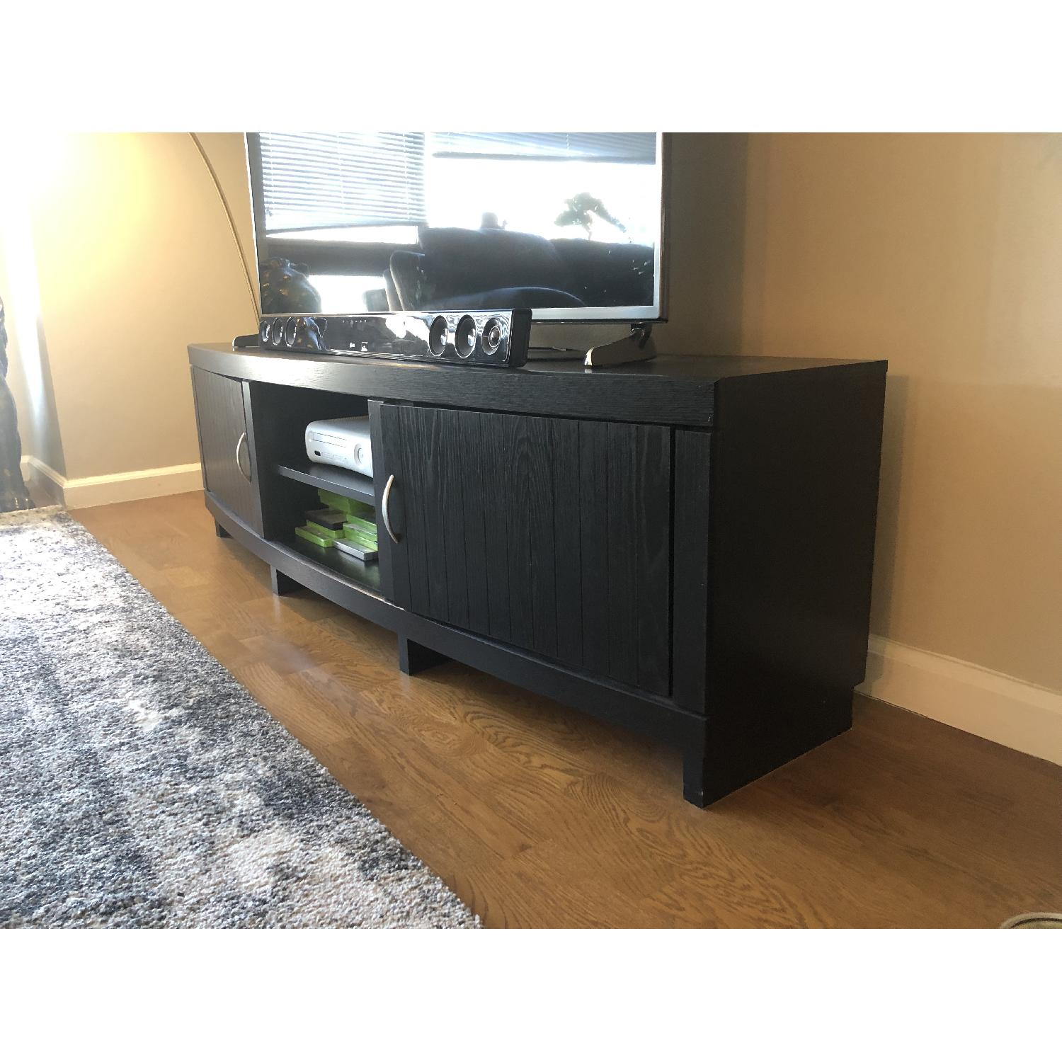 Rooms To Go Black Solid Wood TV Console-2