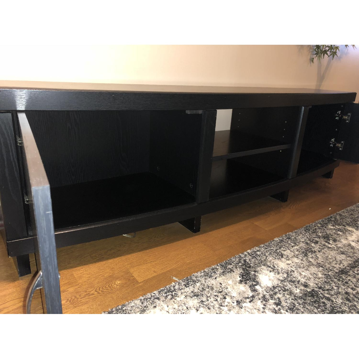Rooms To Go Black Solid Wood TV Console-5