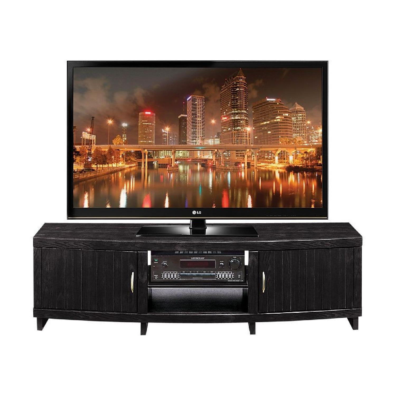 Rooms To Go Black Solid Wood TV Console