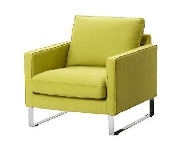 Ikea Mellby Armchair in Dansbo Yellow Green