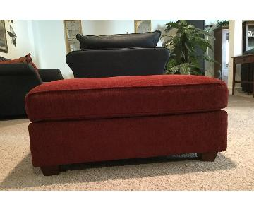 Bloomingdale's Red Ottoman