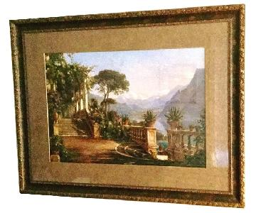 Matted/Framed Carl Frederic Aagaard Lodge on Lake Cuomo