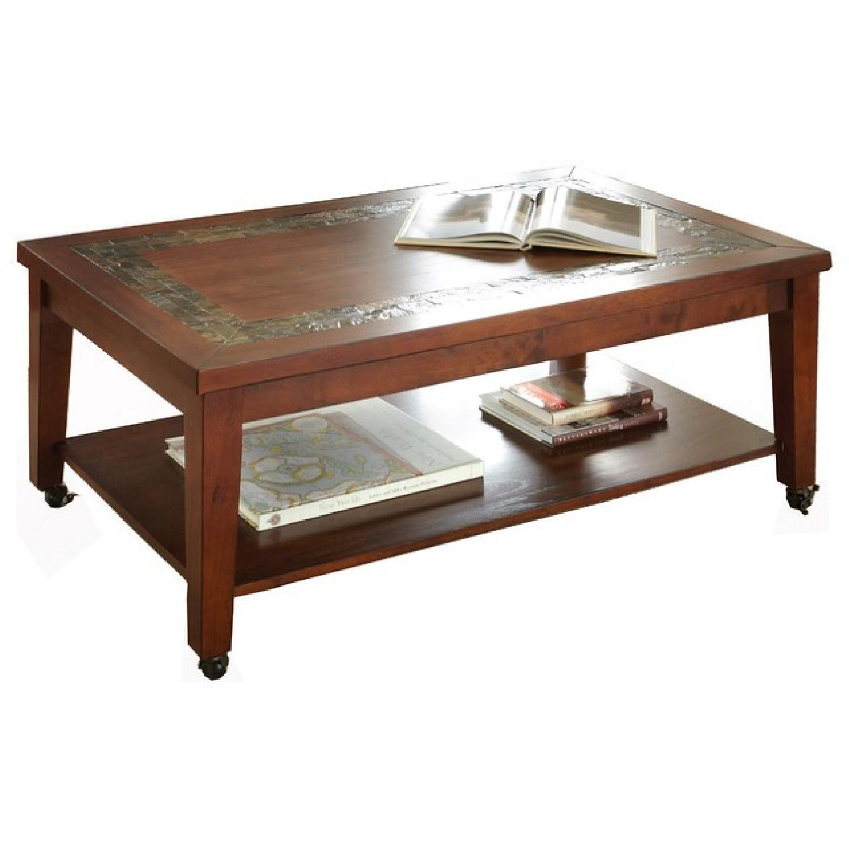 Bob's Coffee Table w/ Slate Inlay