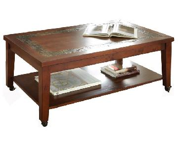 Bob's Coffee Table w/ Slate Inlay