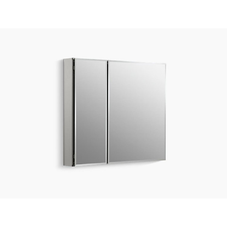 Kohler Aluminum 2-Door Medicine Cabinet w/ Mirrored Doors-0