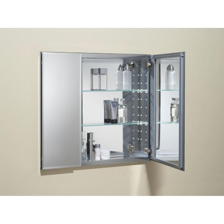 Kohler Aluminum 2-Door Medicine Cabinet w/ Mirrored Doors-1