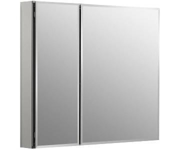 Kohler Aluminum 2-Door Medicine Cabinet w/ Mirrored Doors