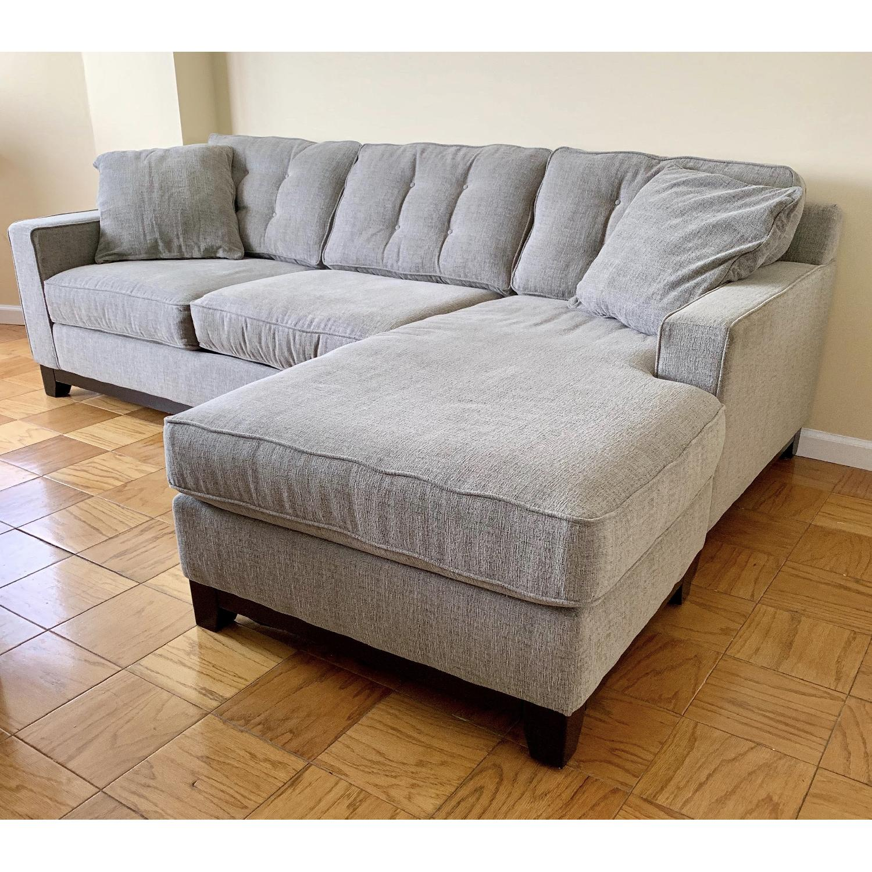 L Shape 2 Piece Sectional Sofa Chair Aptdeco