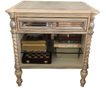 Bassett Dresden Mirrored One Drawer Nightstand