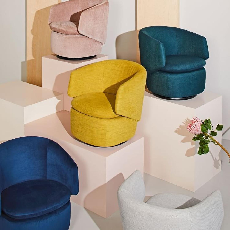West Elm Crescent Swivel Chair-0