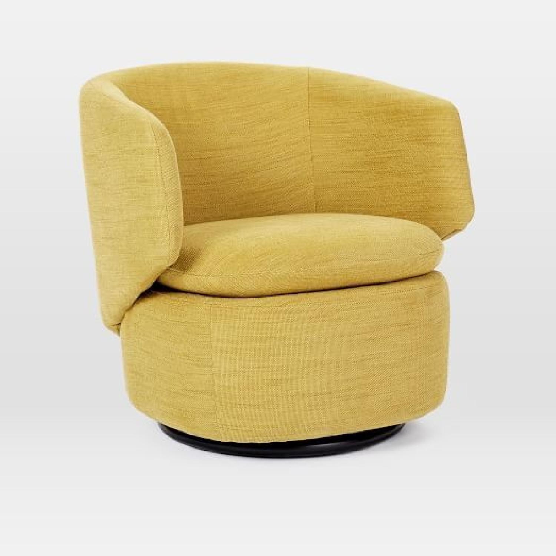 West Elm Crescent Swivel Chair-1