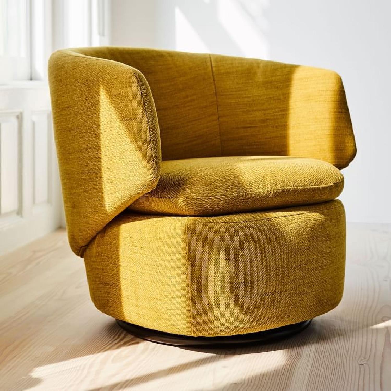 West Elm Crescent Swivel Chair-2