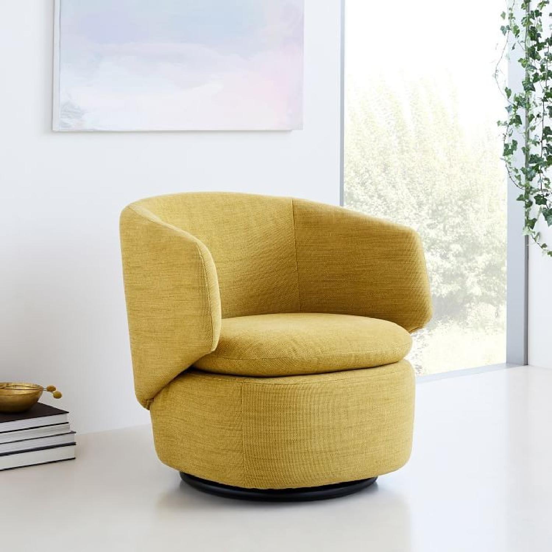 West Elm Crescent Swivel Chair-3