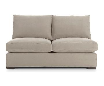 Crate & Barrel Axis II Armless Loveseat