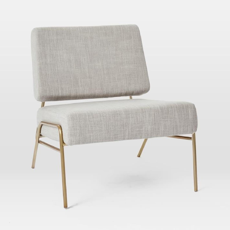 West Elm Wire Frame Slipper Chair in Platinum-0