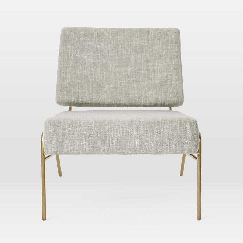 West Elm Wire Frame Slipper Chair in Platinum-1