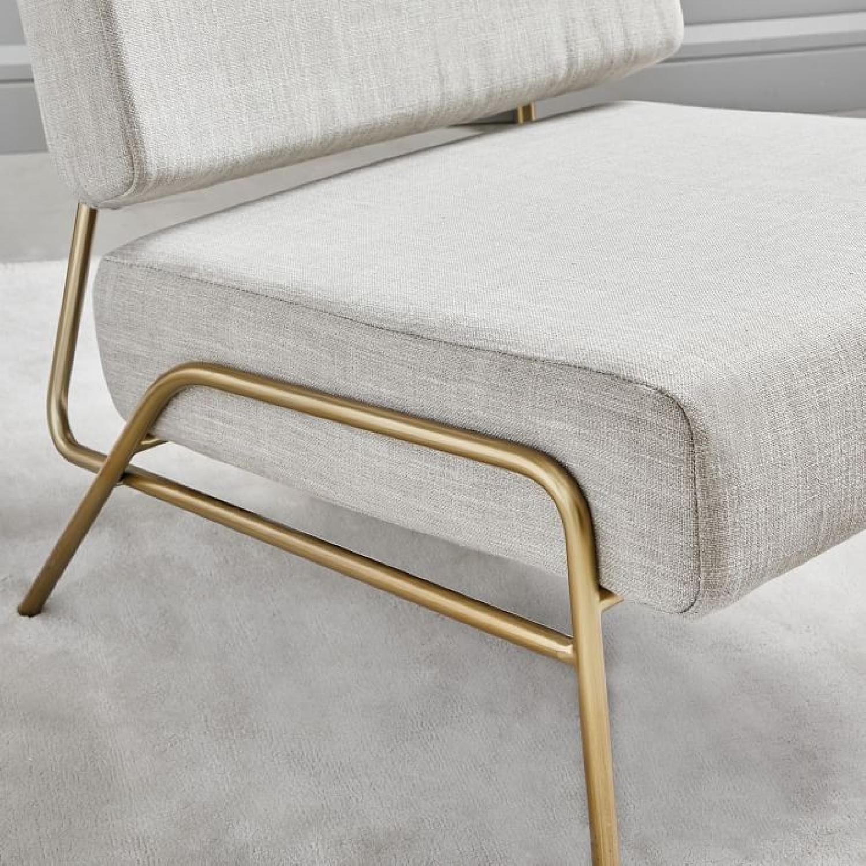 West Elm Wire Frame Slipper Chair in Platinum-2