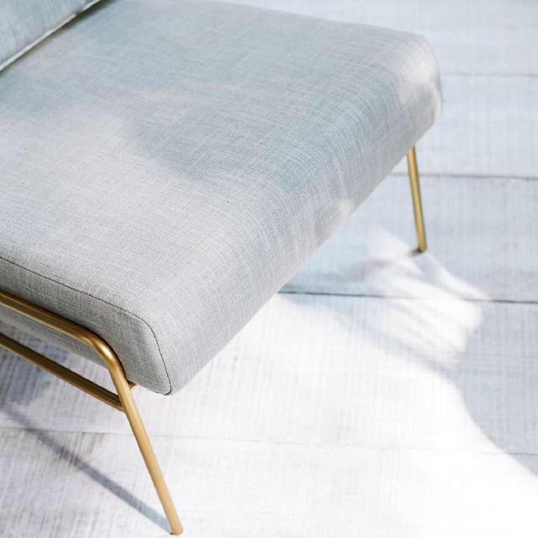 West Elm Wire Frame Slipper Chair in Platinum-3