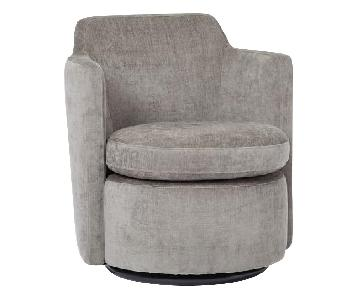 West Elm Adeline Swivel Chair in Metal
