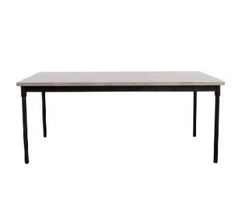 West Elm Industrial Stainless Steel Top/Steel Base Table