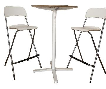 Ikea Billsta High Top Table w/ 2 Foldable Chairs