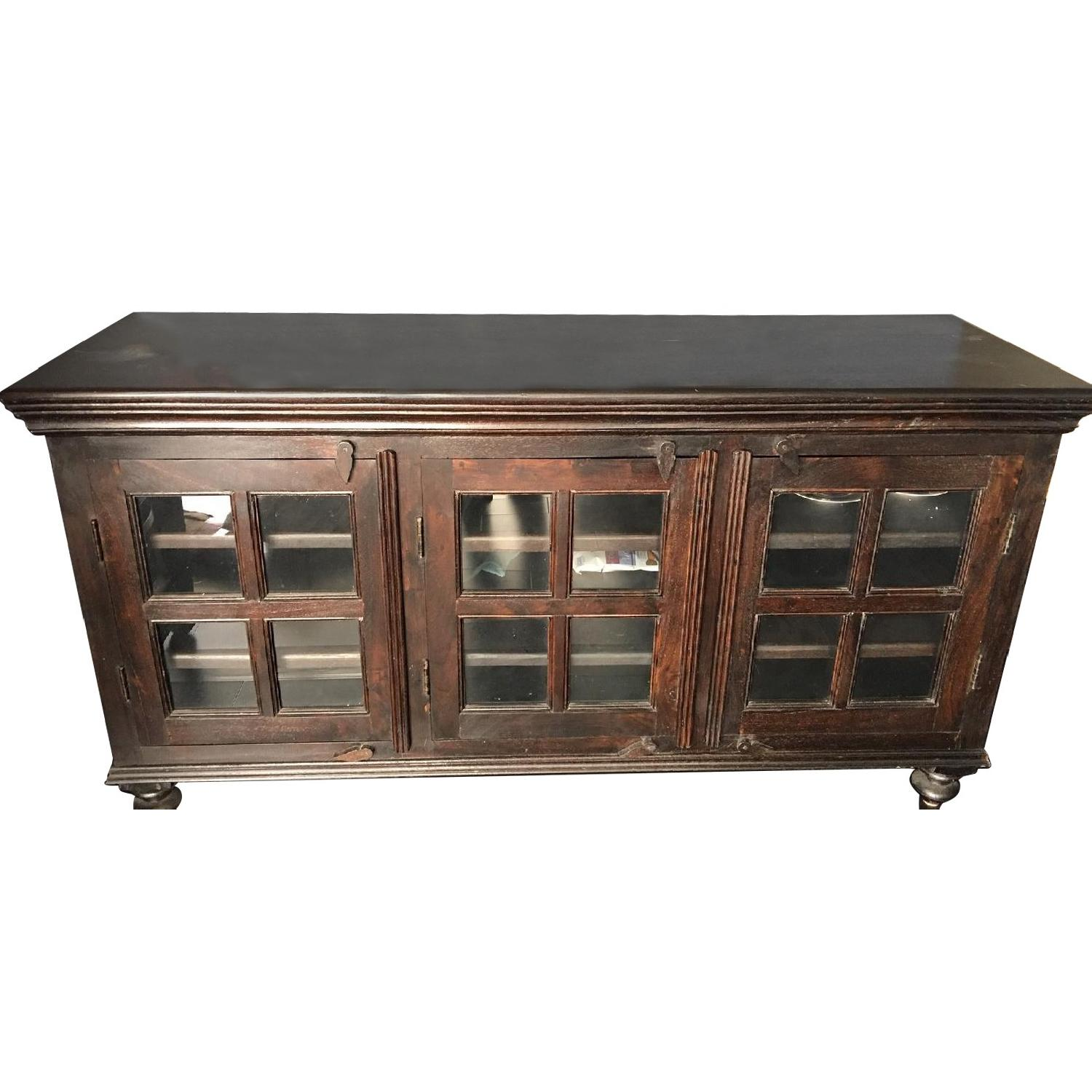 Crate & Barrel Chocolate Brown Credenza