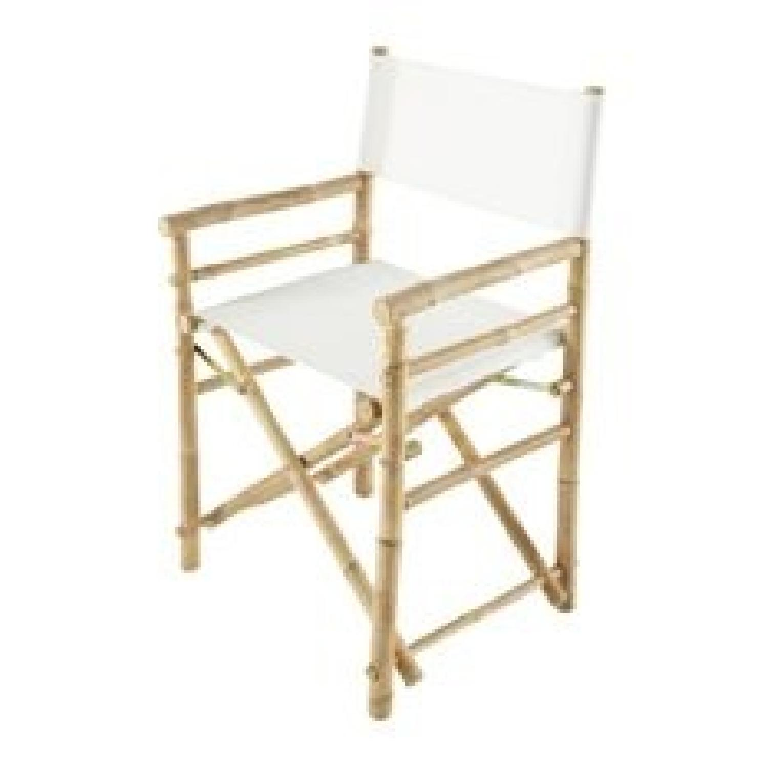 Bamboo Bar Height Directors Chairs