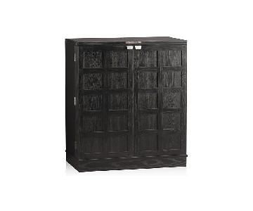 Crate & Barrel Steamer Bar Cabinet