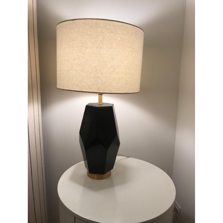 West Elm Black Marble Table Lamps-0